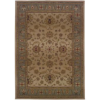 Genesis 952w1 beige/blue indoor area rug square 8' sqr