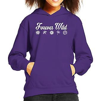 Forever Wild Flowers Kid's Hooded Sweatshirt