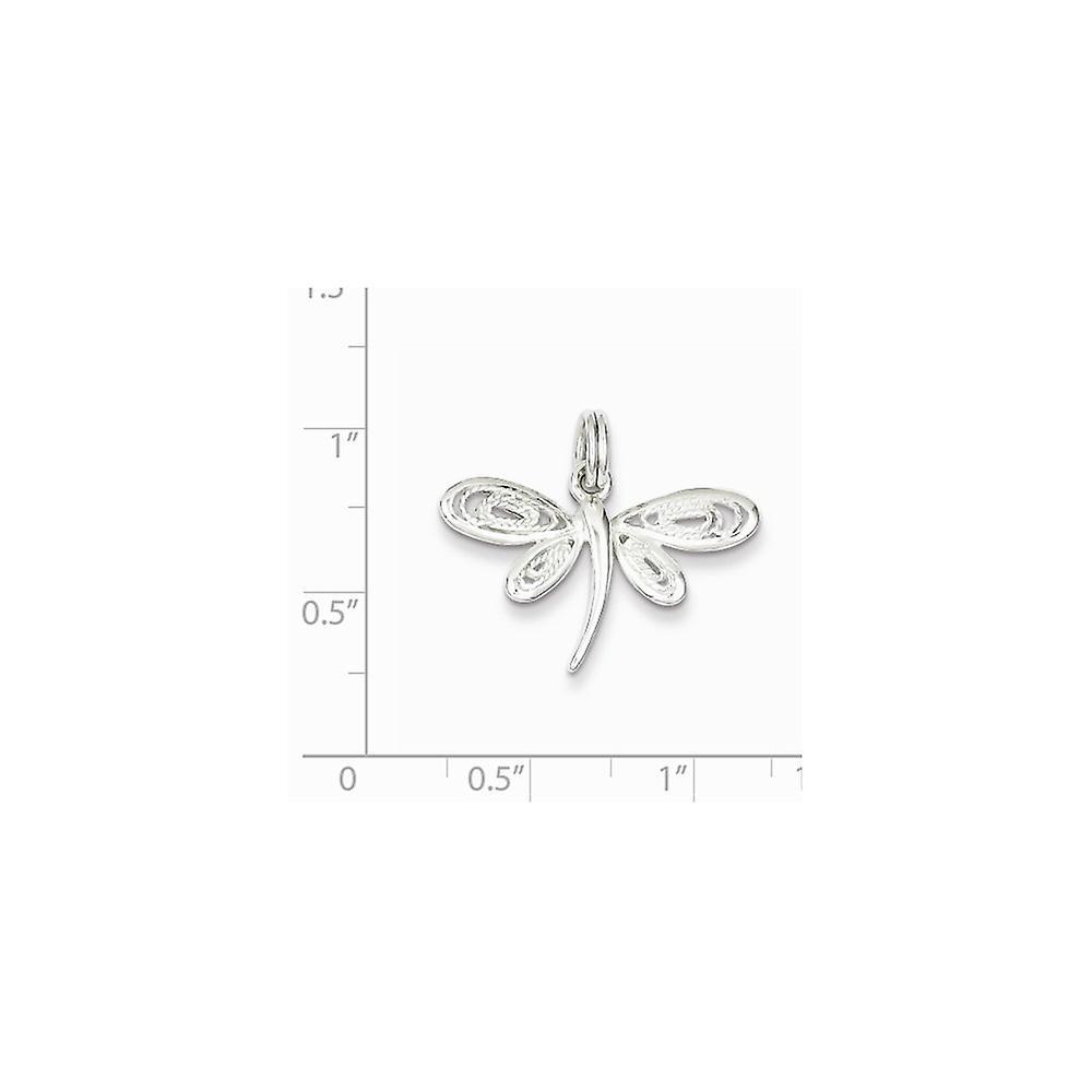 925 Sterling Silber strukturiert poliert libelle Libelle Anhänger Halskette Schmuck Geschenke für Frauen