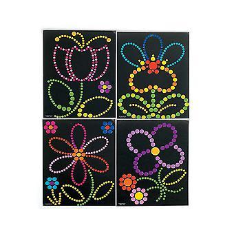 Blomma klistermärke Dot aktiviteter för 12 barn | Blomma trädgård hantverk