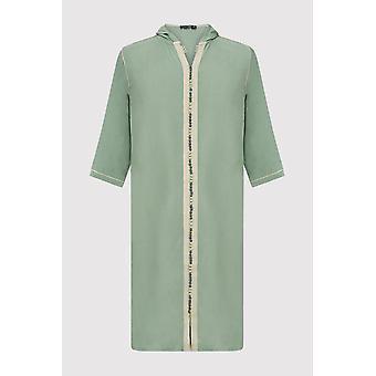 Djellaba jad boy's incappucciato abito a lungo lunghezza a manica thobe in verde (2-12 anni)