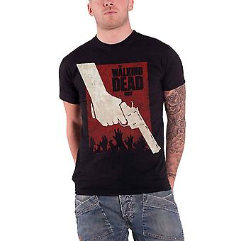 The Walking Dead T Shirt Mens Black Revolver Rick Zombies walkers New Official