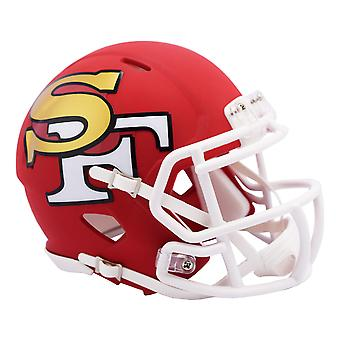 Riddell Speed Mini Football Helmet - AMP San Francisco 49ers
