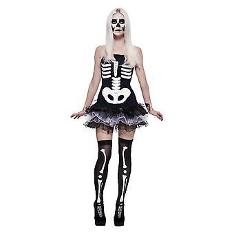 Donne Scheletro Tutu Fancy Abito Halloween