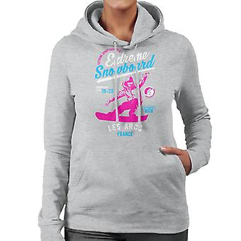 Extreme Snowboard '19 '20 Les Arcs France Women's Hooded Sweatshirt
