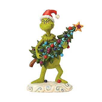 Dr. Seuss The Grinch Stealing Christmas Tree Figurine