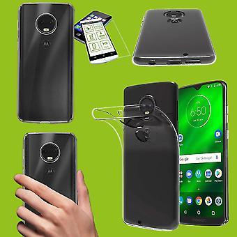 Für Motorola Moto G7 Play Silikoncase TPU Transparent + 0,26 H9 Glas Tasche Hülle Schutz Cover