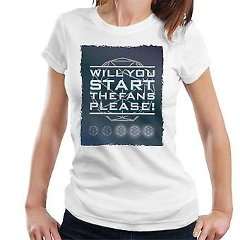 The Crystal Maze Will You Start The Fans Please Women's T-Shirt