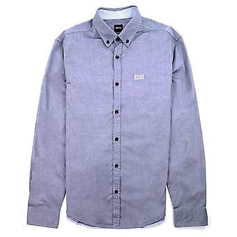 Hugo Boss Biado Regular Fit Long Sleeve Shirt Blue