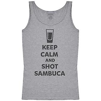 Keep Calm And Shot Sambuca - Womens Tank Top