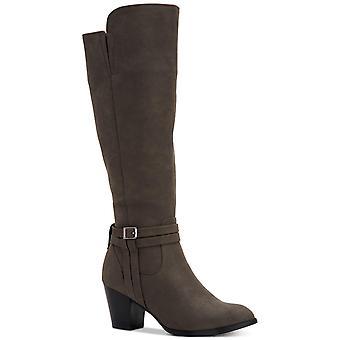 Estilo & Co. Mulheres Jalenaa Amêndoa Toe Knee High Fashion Boots