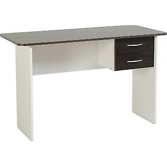 Jenny 2 Drawer Study Desk - Wenge/white