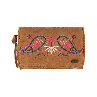 Tier Kristie Leder Brieftasche in Toffee braun