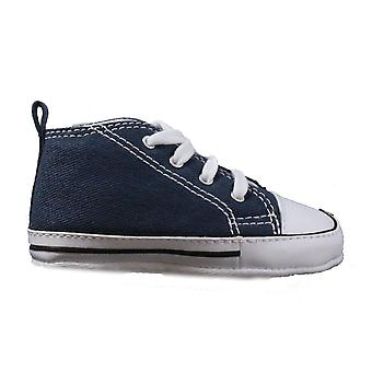 Converse Chuck Taylor First Star Infant 88865 Navy Canvas Unisex Lace Up Pram Boots