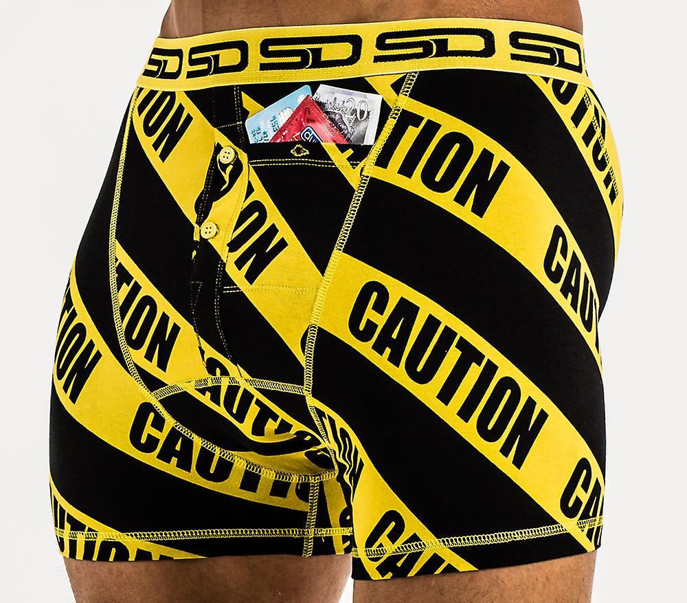 Smuggling Duds Pocket Underwear - Caution