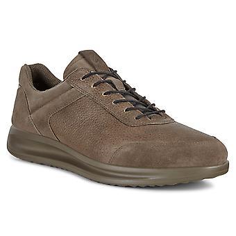 Ecco Mens Aquet Couro Textle Forro Sapatos Anatômicos Completos