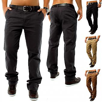 CHINO DSN style Jeans Regular Fit Chinos Trousers W29 - W38 Brown Beige
