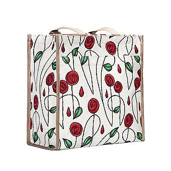 Mackintosh - simple rose reusable shopper bag by signare tapestry / shop-rmsp
