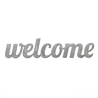Welcome - metal cut sign 24x7in