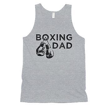 Boxe Pai Mens Grey Brilhante Humilde Pai & apos;s Day Sleeveless Top