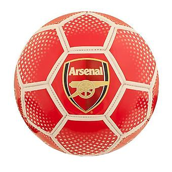 Arsenal FC Diamond Official Supporter Football Soccer Ball Red - Size 5