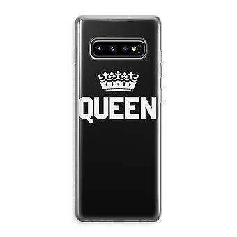 Samsung Galaxy S10 Plus Custodia trasparente (Soft) - Regina nera
