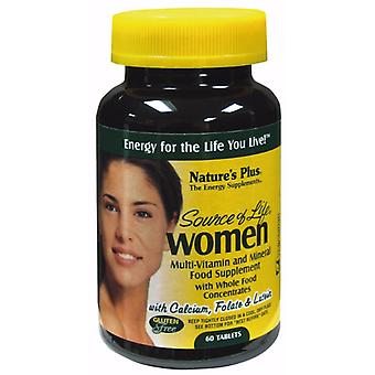 Natures Plus Source of Life Women's Multi Vitamin Tablets, 60