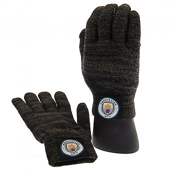 Manchester City FC Adults Unisex Luxury Touchscreen Gloves
