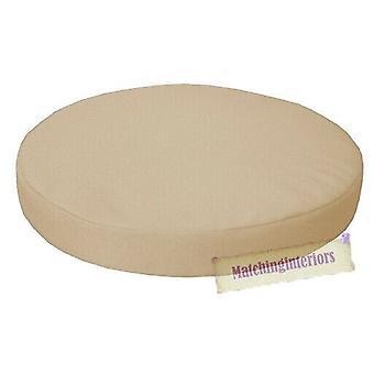 "Stone 15"" Circular Round Water Resistant Garden Chair Dining Bistro Pad Cushion"