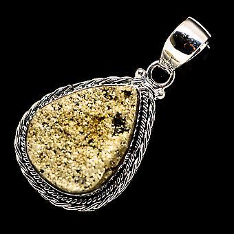 بايرايت قلادة 1 3/4 & quot; (925 الجنيه الاسترليني الفضة) - اليدوية بوهو خمر مجوهرات PD716456