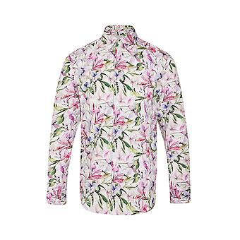JSS Lilac Floral Regular Fit 100% Cotton Shirt