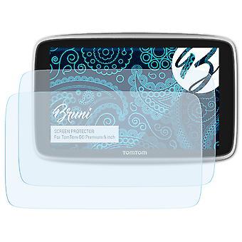 Bruni 2x Pellicola Protettiva compatibile con TomTom GO Premium 6 inch Proteggi Schermo