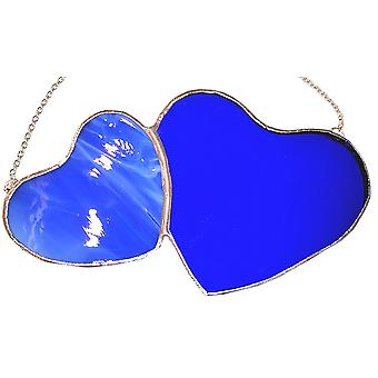 Double Blue Heart von Simmerdim Design
