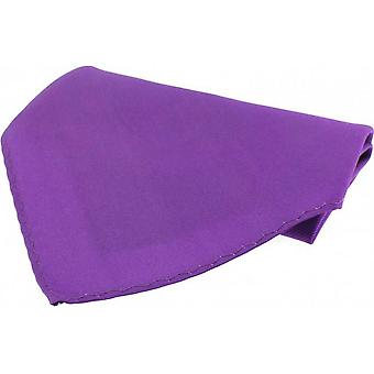 David Van Hagen Fine Twill Silk Pocket Square - Lilac Purple