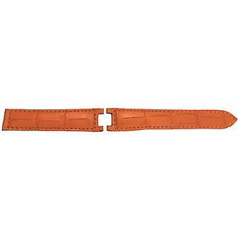Cartier pasha watch strap orange genuine alligator 20mm