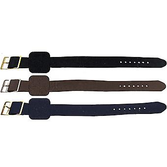 Nylon watch strap plain weave with stainless steel buckle