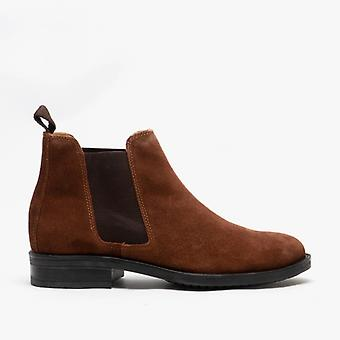 Roamers Archie Mens Twin Gusset Remadded Suede Chelsea Boots Tan