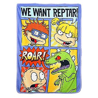 Super Soft Throws - Nick Rewind - Comic Strip Rugrats 45x60