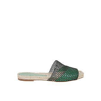 Paloma Barceló Maribelgreen Women's Green Leather Sandals