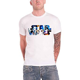 Star Wars logo Space Montage Official Mens New White T Shirt