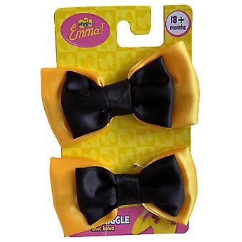 Emma The Wiggles Yellow Book Week Toddler Girls Costume Shoe Bows 18 mths & Up