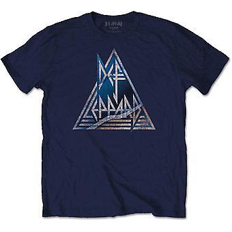 Def Leppard Triangle Logo Officielle Tee T-shirt Herre Unisex