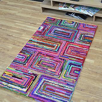 Katoen Chindi Galaxy veelkleurige tapijten 06