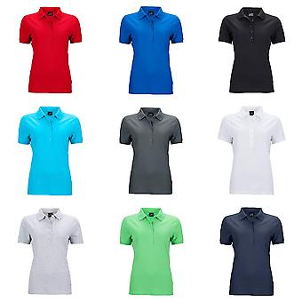 James and Nicholson Womens/dames élastique Pique Polo Shirt