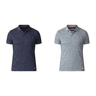 Herzog Mens Dunstan D555 Heavy Slub Pique Polo-Shirt