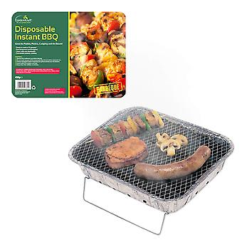 GardenKraft Disposable Aluminium Foil Camping BBQ With Stand 450G