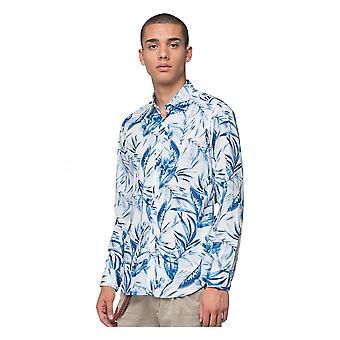 Replay Jeans Replay Resort Print Shirt L/s White Blue