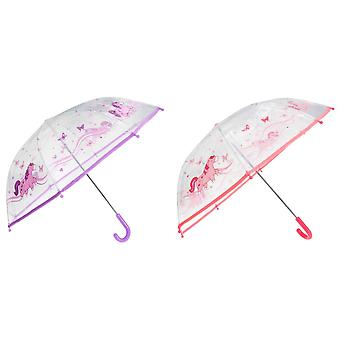 Drizzles Childrens/Kids Unicorn Umbrella