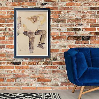 Egon Schiele - Mann Frau auf den Knien haltend - 1911 Poster Print Giclee