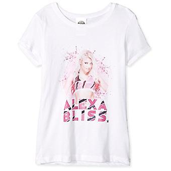 WWE Little Alexa Bliss Attitude Short Sleeve Girl's T-Shirt, White, 5/6